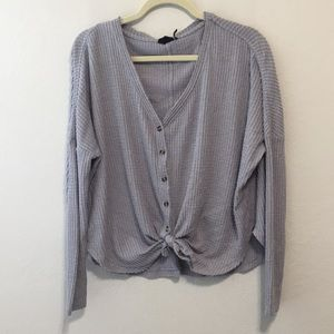 Out From Under Urban Outfitters Waffle Knit Shirt